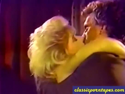 Vintage sex video with a hot blonde lady with big, round ass