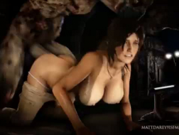 Lara is sucking drilled white cock