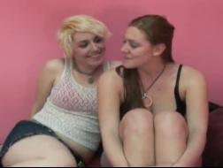 Sexy lesbian gals in lesbian orgy
