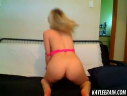 Pigtailed teen, Kaylee spread her legs for porn tm y