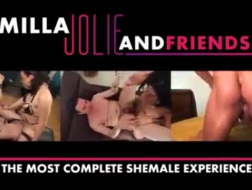 Sexy Shemales In Threesome Fuck