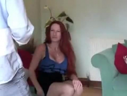 Sexy brunette mom drilled by her daughter