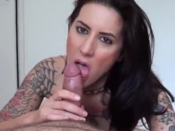 Tattooed chick with big, firm tits likes to have anal sex as well as a porn video