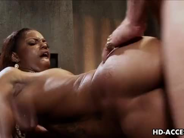 ebony hoe marie luv railing white rock-hard-on and plumbed rock-hard