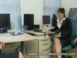 Renee Richards Büro Bi-rassische Knall-out